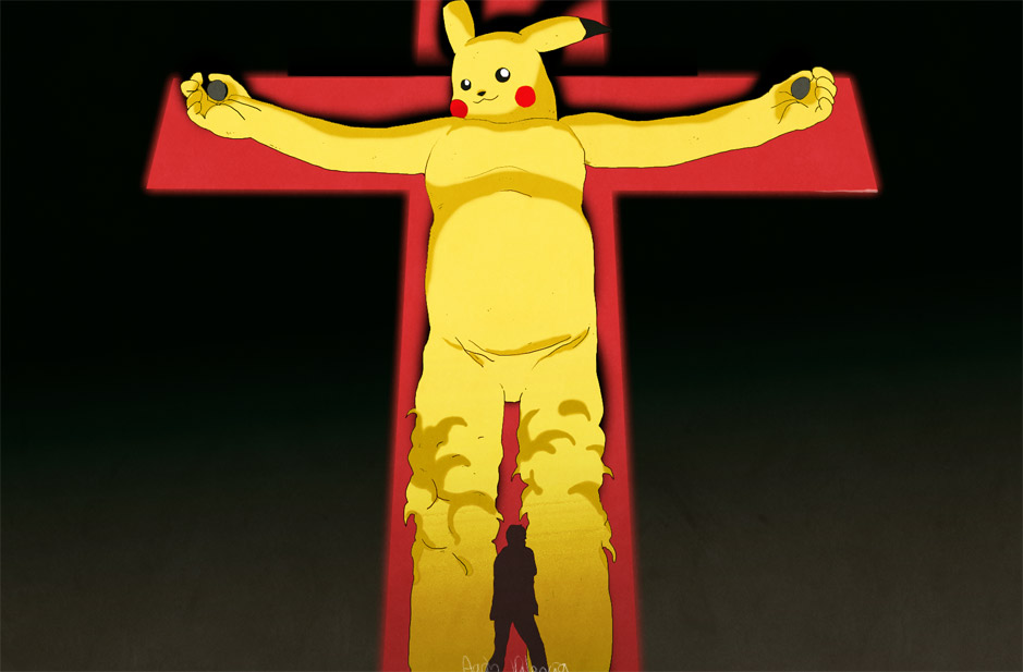 Pikachu died for your sins.