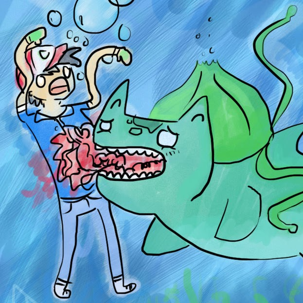 Why are they underwater? And why is Bulbasaur so sad?