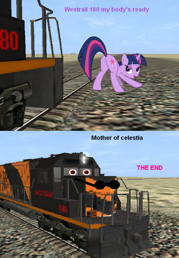 Because Ponies x Trains is apparently a thing.