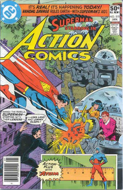 Superman vs. Jimmy and Lois's Giant Robots.