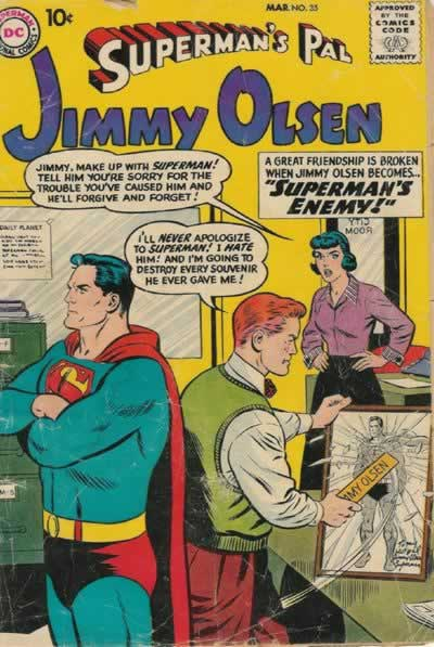 Jimmy Picks a Fight With Superman's Picture.
