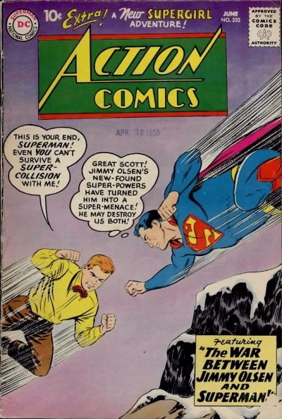 """The War Between Jimmy Olsen and Superman!"""