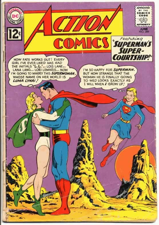 Superman Makes Out With His Cousin From the Future.