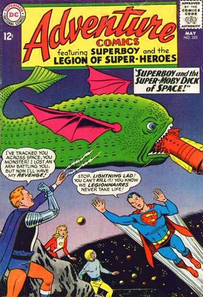 """""""Superboy and the Super-Moby Dick of Space!"""""""