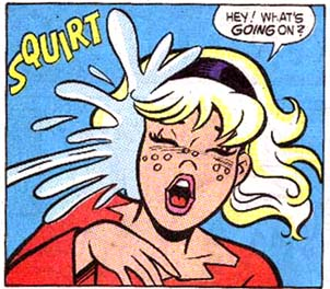 Sabrina Gets it in the Face.