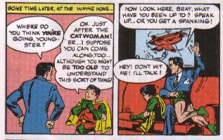 Batman Spanks Robin.  In a Totally Not-Gay Way.