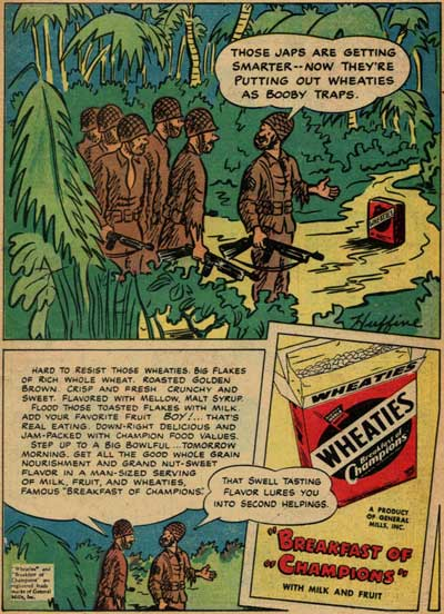 Wheaties:  The Trap Bait of the Japanese.