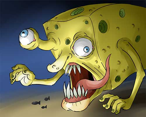 Who Lives in a Nightmare Under the Sea?
